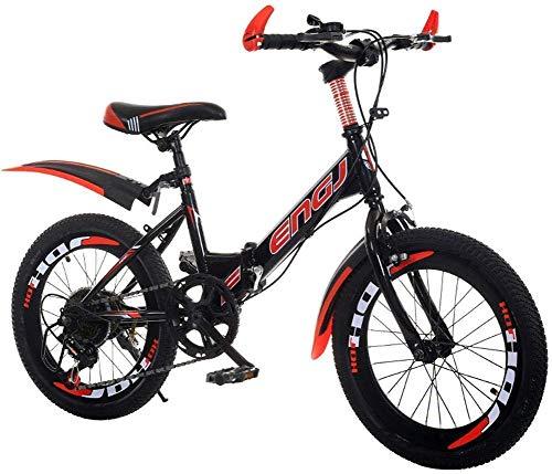 Klapprad bei 18/20/22 Zoll Geschwindigkeit - Klapprad bei Falten Geschwindigkeit Erwachsener Fahrrad for Jungen und Mädchen in Fahrrad Eintourige for Auto Rotes Auto Geschwindigkeit 22 Zoll (Farbe: ro