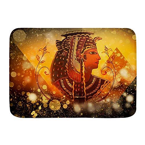 """Alfombra de baño Alfombra antideslizante,Antiguo Egipto Egipto Reina Mujeres bajo la pirámide Egipto Pictograma en,Alfombras modernas de microfibra para baño Alfombra de baño suave 29.5 """"X 17.5"""""""