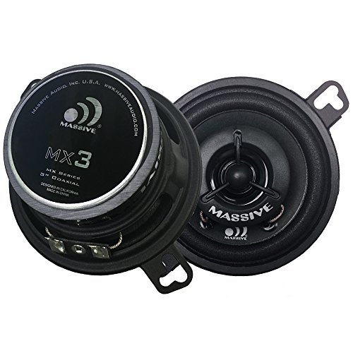 "Massive Audio MX2-2 Inch / 20-Watt Full Range Speakers. (2.25"" Mounting Hole) (1.75"" Drop-in) Full Range Speakers to Upgrade Front Dash Staging for Cars, and Various DJ and Home Audio Projects. Pair"
