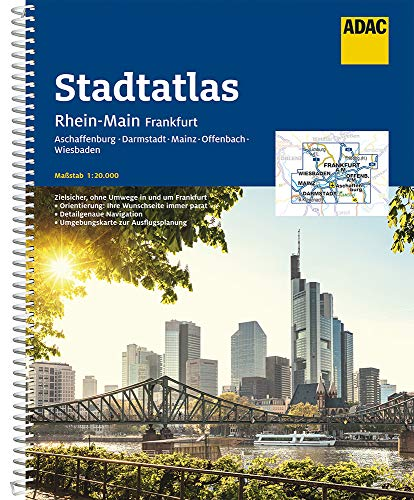 Preisvergleich Produktbild ADAC Stadtatlas Rhein-Main,  Frankfurt 1:20 000: mit Aschaffenburg,  Darmstadt,  Mainz,  Offenbach,  Wiesbaden (ADAC Stadtatlanten 1:20.000)