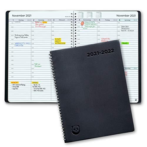 Terminplaner 2021 2022 von SmartPanda - Wochenplaner A5 – Softcover Tagebuch, 30 Minuten-Intervalle – Juli 2021 - August 2022 - auf Deutsch