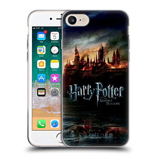 Head Case Designs Offizielle Harry Potter Burg Deathly Hallows VIII Soft Gel Huelle kompatibel mit Apple iPhone 7 / iPhone 8 / iPhone SE 2020