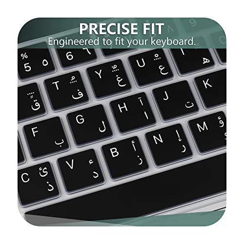 Carcasa de silicona para MacBook Pro 13 16 2020 A2141 A2289 A2338 M1 US-EU Arabic Black