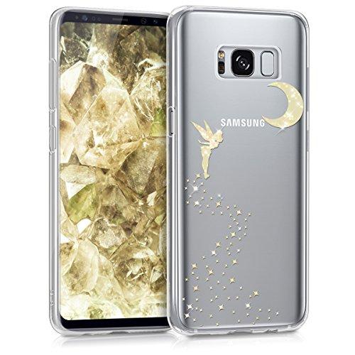 kwmobile Funda para Samsung Galaxy S8 - Carcasa Protectora de TPU con diseño de Hada Brillante en Dorado/Transparente