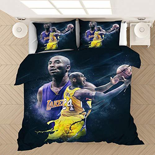 2020 nueva estrella del deporte ropa de cama jugador de baloncesto funda nórdica edredón cubierta funda de almohada niño hombres Hogar, dormitorio de una sola cama doble,200x200cm(3piezas)