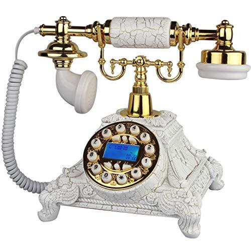 TRTT Teléfono Fijo Retro Europeo clásico Teléfono Retro/teléfono de marcación giratoria/teléfono de Estilo Retro/teléfono Antiguo/teléfono de Escritorio clásico con Marcador Giratorio, di