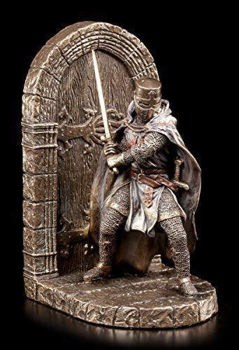 Ritter Buchstütze rechts - einzeln | Deko Figur Kreuzritter Veronese bronziert