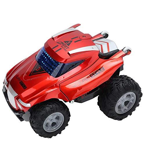 FOLOSAFENAR Coche eléctrico Duradero de Juguete Excelente Apariencia Juguete deformado ecológico con Colores Brillantes con diseño deformado para la colección de Modelos para niños(Red)