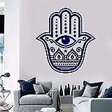Pegatinas de pared religiosas pegatinas de pared de arte decoración religiosa para el hogar habitación religiosa pintada a mano decoración de la pared de la habitación de los ojos de dios 48x51cm