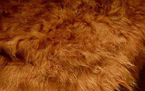 Fabrics-City LANGHAAR Fell Stoff FELLSTOFF Stoffe, 2414 (Camel)