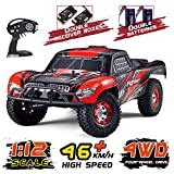Tecesy RC Cars , 1/12 Scale 4WD Off-Road Remote Control Car ,High Speed 25MPH RC Truck / Monster Truck, Fast Racing Hobby Car for Adults & Kids,Red