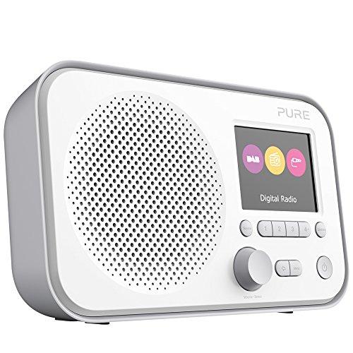 Pure Elan E3 tragbares Digitalradio (DAB/DAB+ Digital und UKW-Radio mit Weckfunktionen, Küchen- und Sleep-Timer, 2,8-Zoll-TFT-Farbdisplay, 40 Senderspeicherplätzen, AUX), Grau
