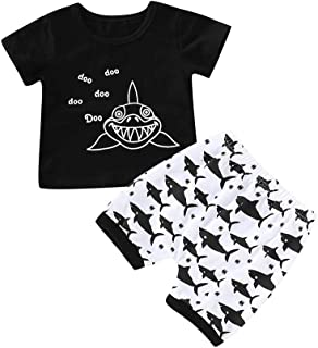d877eff0f Baorong Summer 2 Piece Sets Baby Boy Short Sleeve T-Shirt Camouflage Pants  Casual Clothes
