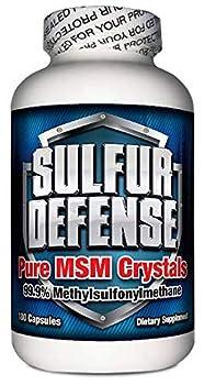 7 Lights Sulfur Defense MSM Crystals  99.9% Methylsulfonylmethane  Made in The USA 180 Caps