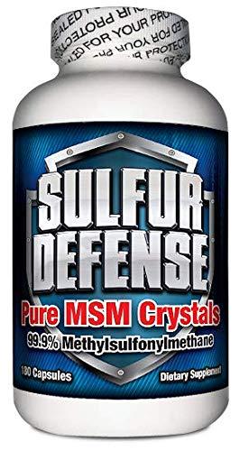 7 Lights Sulfur Defense, MSM Crystals (99.9% Methylsulfonylmethane), 180 Caps