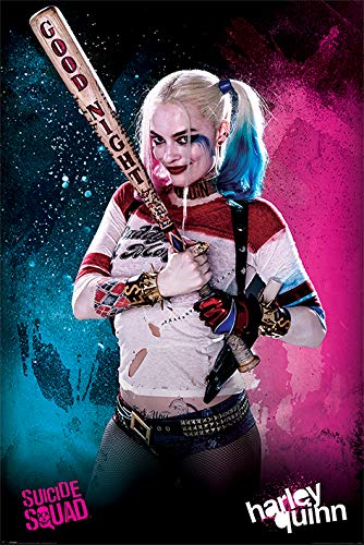 Suicide Squad Harley Quinn Póster, Madera, Multicolor