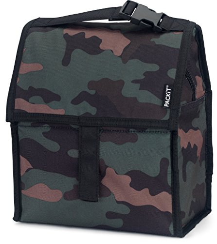 PackIt Freezable Lunch Bag with Zip Closure, Classic Camo