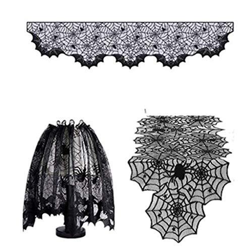 5 piezas de cubierta de pantalla de lmpara, cubierta para bufandas de chimenea para decoracin de Halloween, decoracin del hogar