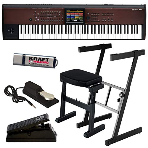 Discover Bargain Korg Kronos LS 88-Key Music Workstation with Z-Frame Stand, Z-Frame Bench, Expressi...