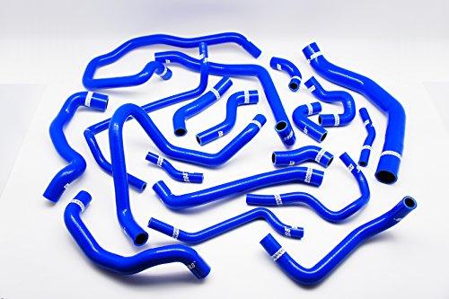 Autobahn88 radiateur liquide de refroidissement & chauffage Silicone flexible Kit, modèle ASHK250-BL-WC (bleu - avec pince Set)