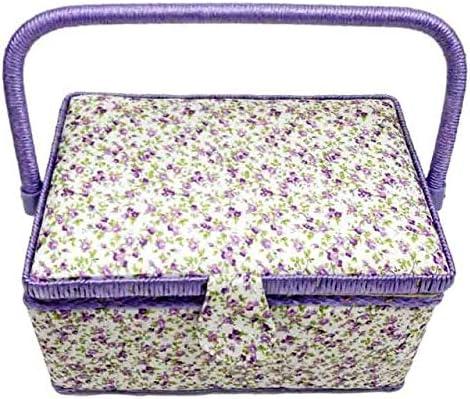 Charlotte Mall DD Handmade Storage Basket trend rank WoodFabric Crafts Sewing Box Measur