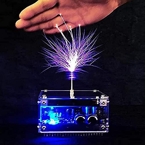 DMYY Musik Tesla Spule, Musik Tesla Coil Künstliche Blitz-Generator Desktop-Toy Berührbaren Gewitter, Physik Spielzeug Lernen Bildung Experiment Modell