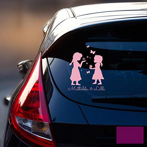 Ilka Parey Sticker Autocollant Voiture Pare-Brise Arrière véhicule autocollant bébé Reine des Neiges Frozen Kinder M1872, lavande, XL - 25cm breit x 35cm hoch