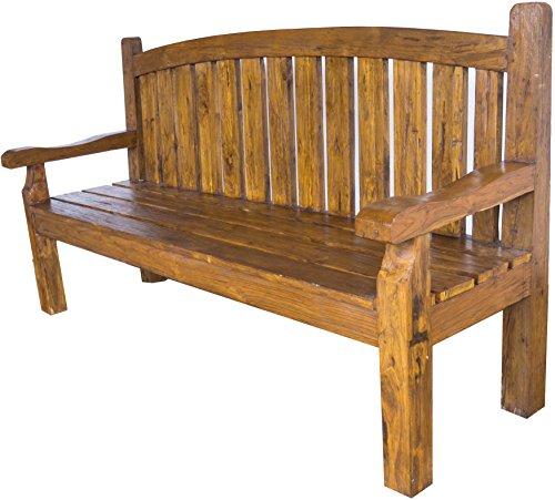 Guru-Shop Banco, Sofá de Teca - Modelo 14, Marrón, 110x200x60 cm, Muebles Para Sentarse