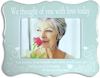 BANBERRY DESIGNS Memorial Frame - We Thought of You with Love Today - Ceramic Plaque with Memorial Poem - Bereavement Gift - Sympathy - Condolence - in Loving Memory