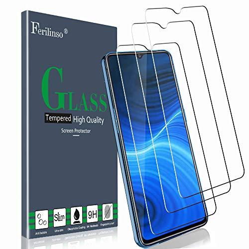 Ferilinso Schutzfolie für Realme X2 Pro Panzerglas, [3 Pack] Gehärtetes Glas Bildschirmschutzfolie für Realme X2 Pro Panzerglas (Transparent)