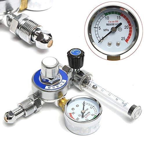 0-315 bar f/ür Gasflasche mit W21.8-Auslass HUKOER Argon-CO2-Druckregler Mig-Tig-Schwei/ßen