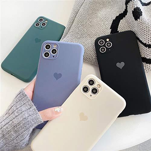 YABAISHI Simple Love Liquid iPhone12Mini Apple 11pro MAX Mobile Teléfono Móvil 7 / 8PLUS Mate Todo Incluido XR (Color : Classic Black, Size : IPhoneXs MAX)