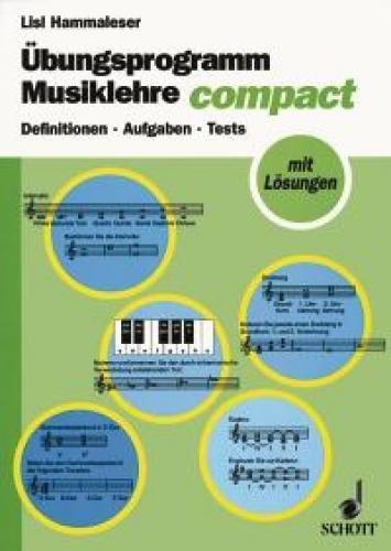 Übungsprogramm Musiklehre : Definitionen, Aufgaben, Tests.