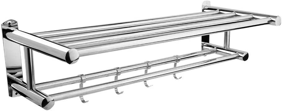 Wall Mounted Towel Rack with Max Excellence 60% OFF Stainless Steel Shelf Holder