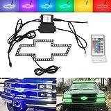 For Chevy Bowtie Emblem Multi-Color Change LED Shift...
