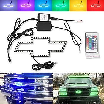 For Chevy Bowtie Emblem Multi-Color Change LED Shift RGB Halo Ring Set Chevrolet