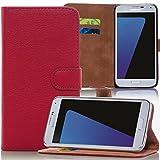 numerva HTC Desire 630 Hülle, Schutzhülle [Bookstyle Handytasche Standfunktion, Kartenfach] PU Leder Tasche für HTC Desire 530/630 Wallet Hülle [Rot]