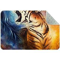エリアラグ軽量 虎の絵 フロアマットソフトカーペットチホームリビングダイニングルームベッドルーム