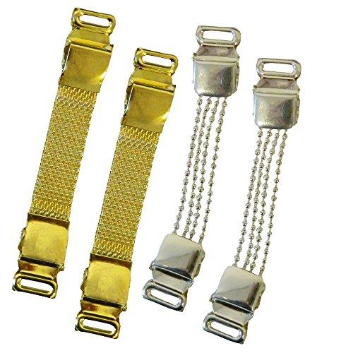 Blusenraffer 2 Paare Ärmelhalter Set D silber und gold Ärmelraffer