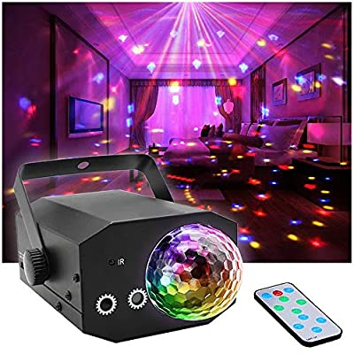 Party Dj Disco Lights + Disco Ball, Stage Lighting SPOOBOOLA Stage Lights for Christmas Garden Decorations Halloween Holiday Party Wedding Lawn Decoration …
