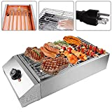Shikha Electric BBQ Grill Countertop Outdoor and Indoor Barbecue Grill Smokeless 110V 2500W Stainless Steel for Party/Home/Camping Cooking Adjustable Temperature