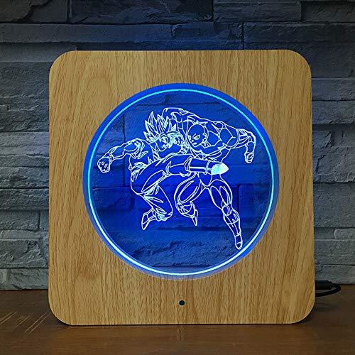 Jiushixw 3D-stereo-kleur nachtlampje met afstandsbediening navigatie nautisch statief tafellamp stofachtige voetbal adelaar vleugels slaapkamer home bar kinderen geschenk tafellamp cm