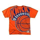Mitchell & Ness NBA Big Face New York Knicks - Camiseta de manga corta, color naranja