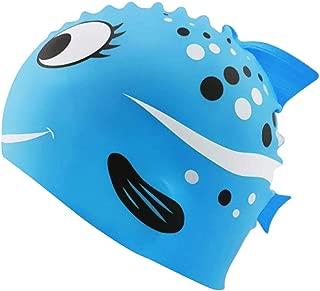 Kids Swimming Cap, Cute Silicone Swim Caps for Kids Boys & Girls - Shark Minnows Shape Fun Design