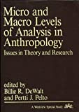 Micro and Macro Levels of Analysis in Anthropology: Issues in Theory and Research