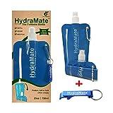 Bouteille d'eau pliable HydraMate 750 ml Bouteille pliable, légère, douce, sans BPA, idéale pour...