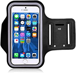 Armband Case Fits iPhone 8 7 6 6S Sweat Resistant Running Pouch Phone Holder for Nuu A3 A6L Adjustable Arm Band with Key Pocket