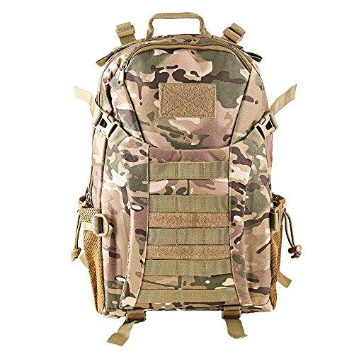 Greenpromise Mochila táctica militar de 35 L para exteriores, mochila de senderismo, impermeable, bolsa de hombro, paquete de combate (camuflaje CP)