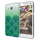 NALIA Funda Carcasa Compatible con Samsung Galaxy A5 2015, Motivo Design Movil Protectora Ultra-Fina Silicona Cubierta, Gel Estuche Telefono Bumper Ligera Cover Case, Motiv:Green Forest