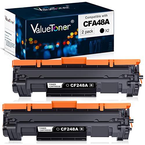 Valuetoner Compatible Toner Cartridge Replacement for HP 48A CF248A for Laserjet Pro M15w MFP M29w M30w M31w Laser Printer (Black, 2 Pack)